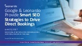 Google & Leonardo Provide Smart SEO Strategies to Drive Direct Bookings