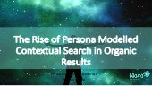 SEO - The Rise of Persona Modelled Intent Driven Contextual Search
