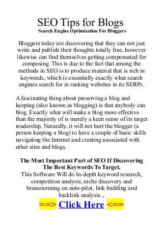 seotipsforblogs-searchengineoptimisation