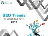 SEO Trends to Watch Out For In 2018