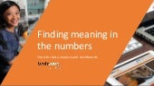 Finding Meaning in the Numbers