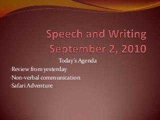 Speech and writing