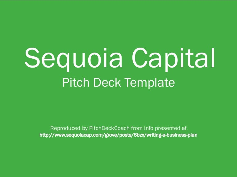 Sequoia capital pitch deck template friedricerecipe Choice Image