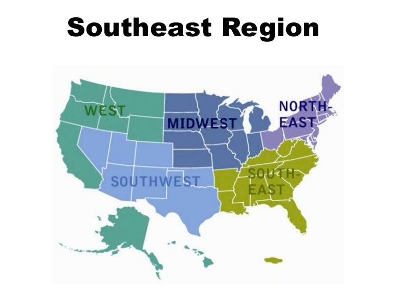 Southeast Th Grade US Regions UWSSLEC LibGuides At US Southeast - 5 us regions map