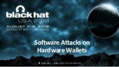 Software Attacks on Hardware Wallets