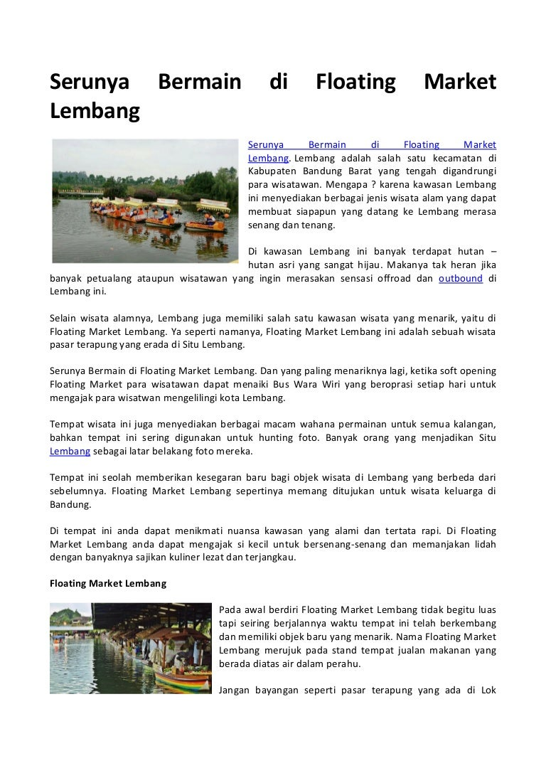 Serunya Bermain Di Floating Market Lembang Tiket Masuk Serunyabermaindifloatingmarketlembang 180120054710 Thumbnail 4cb1516427327