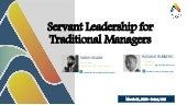 Servant leadership for traditional manager by Wajih Aslam and Ramus Runberg