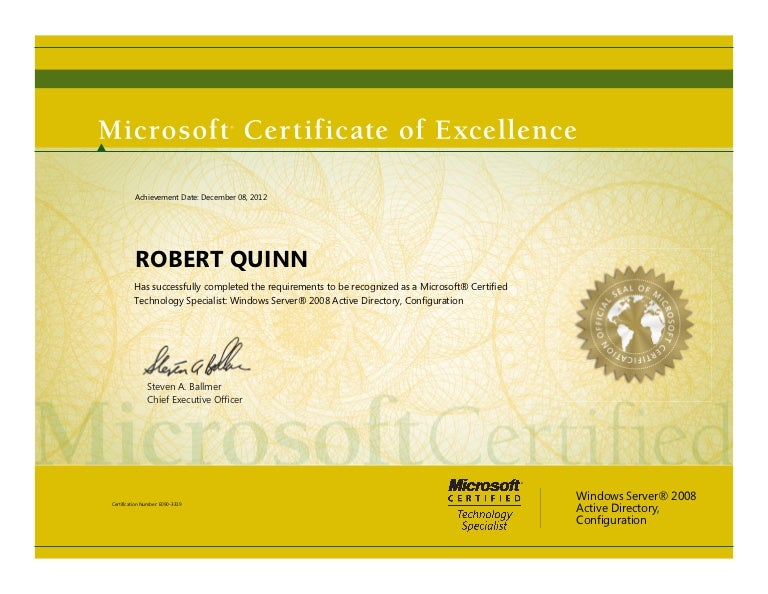 70 640 Server 2008 Certification