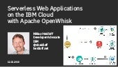 Serverless Web Applications on the IBM Cloud