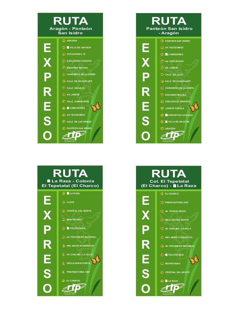Circuito Bicentenario : Rutas de la rtp express