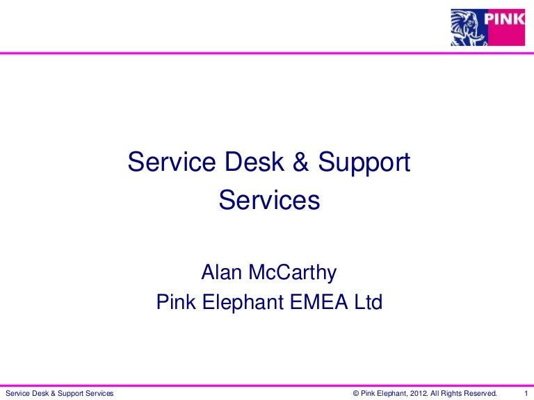 customer care charter template - service desk proposition presentation