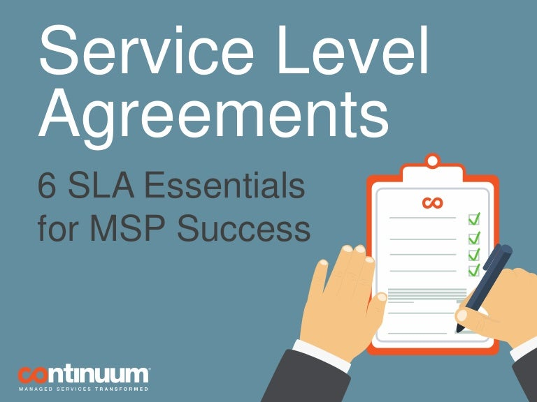 Service level agreements 6 sla essentials for msp success pronofoot35fo Image collections