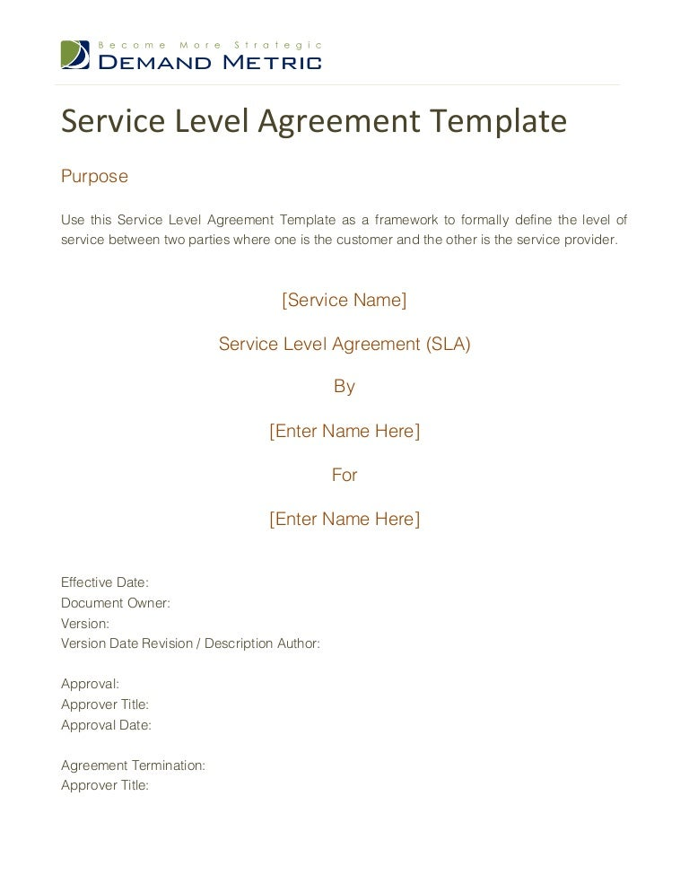 SlideShare  Agreement For Services Template