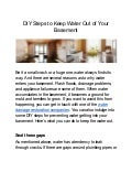 DIY Steps to Keep Water Out of Your Basement