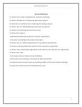 Services Marketing {Model Test Paper}