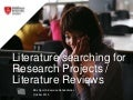 SES3330 literature searching for research projects and literature reviews 2015
