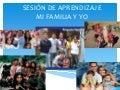 Sesión de aprendizaje mi familia y yo