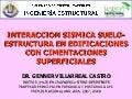 Ingeniería Sismoresistente - Sesión 2: Interacción Sísmica Suelo-Estructura en Edificaciones con Cimentaciones Superficiales