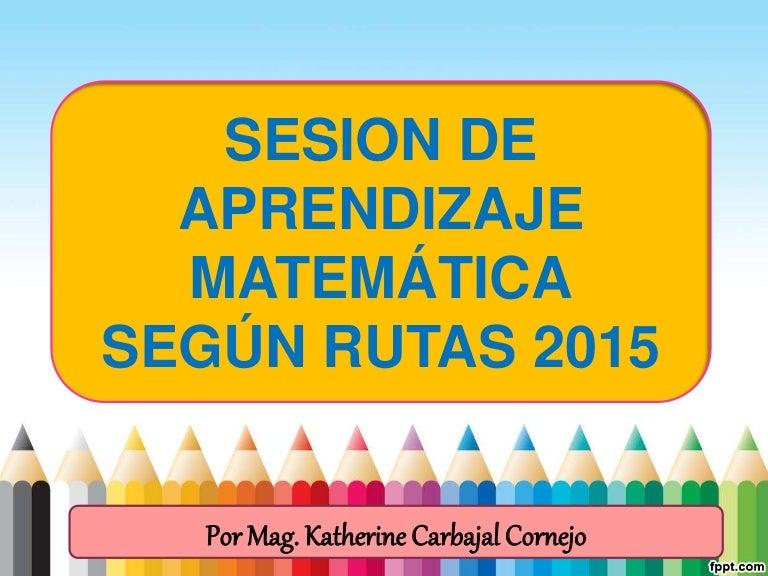 Sesion de aprendizaje matematica