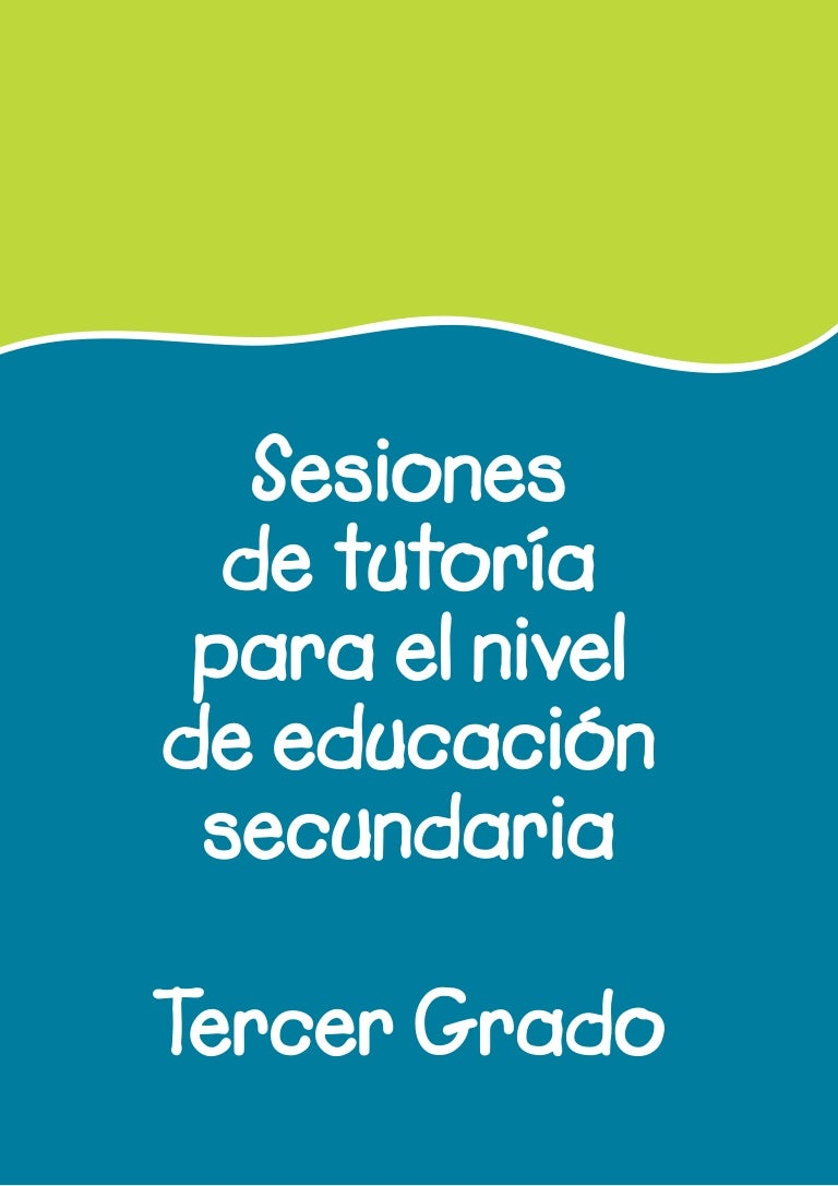 Sesiones tutoria 3° secundaria