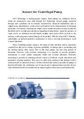 Sensors for centrifugal pumps