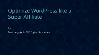Optimize WordPress Like a Super Affiliate