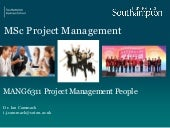 Human Factors in Project Management Session 1 projects are about people issue 1