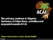 Session 1 summary of acai use cases nigeria development partners presentation