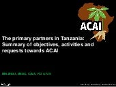 Session 1 summary of acai use cases tanzania development partners presentation