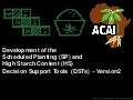 Session 2 4 Development of the Scheduled Planting (SP) and High Starch Content Decision Support Tool