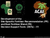 Session 2 fertilizer recommendation and fertilizer blending dst