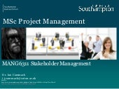 Human Factors in Project Management: Stakeholder Management