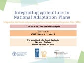 Building Institutional Capacity in Thailand to Design and Implement Climate Programs - CBA steps 1-3