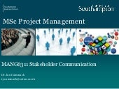 Human factors in project Management Session 3 communications issue 1