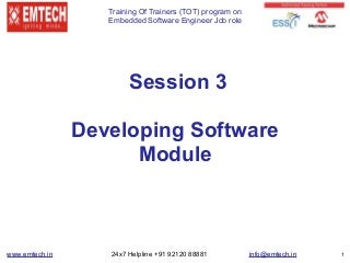 How can I develop an embedded software?