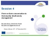 DIVERSIFOOD Final Congress - Session 4 - From on farm conservation to Community biodiversity management - Riccardo Bocci