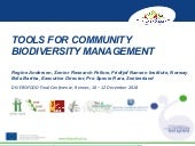 DIVERSIFOOD Final Congress - Session 4 - Tools for community biodiversity management - Regine Andersen and Bela Bartha
