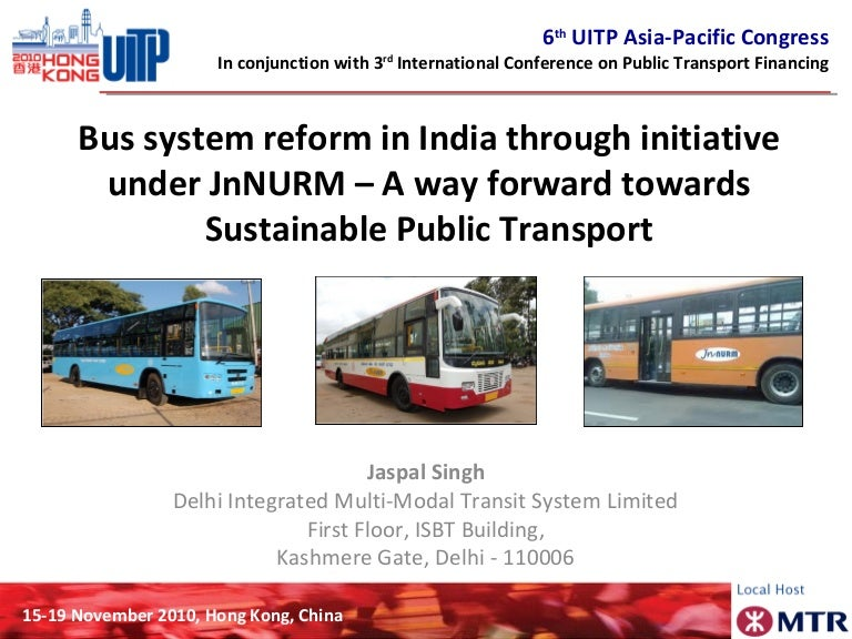 Bus System Reform In India Through Jnnurm