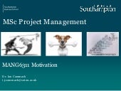 Human Factors in Project Management Session 4 motivation issue 1