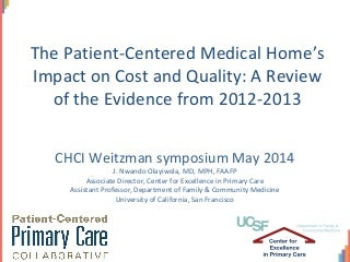 Virtual medical home project abstract