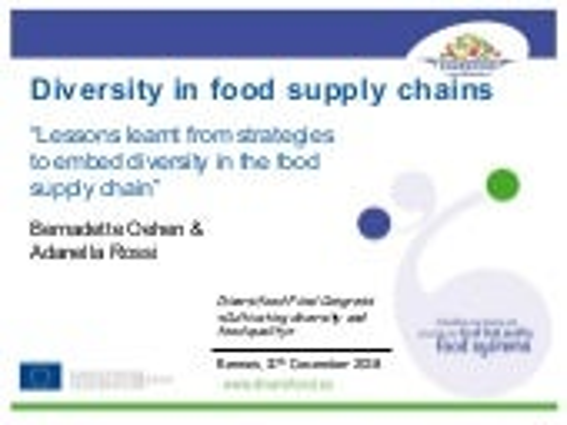 DIVERSIFOOD Final Congress - Session 5 - Value chains studies - Bernadette Oehen & Adanella Rossi
