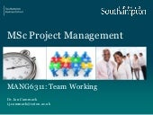 Human Factors in Project Management Session 5 team working issue 1