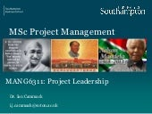 Human Factors in Project Management Session 6 leadership issue 1