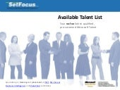 SetFocus Available Talent List