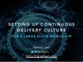 Setting up Continuous Delivery Culture for a Large Scale Mobile App