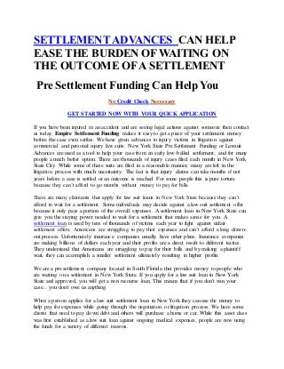 Cash Advances on Lawsuits Before They Go To Court