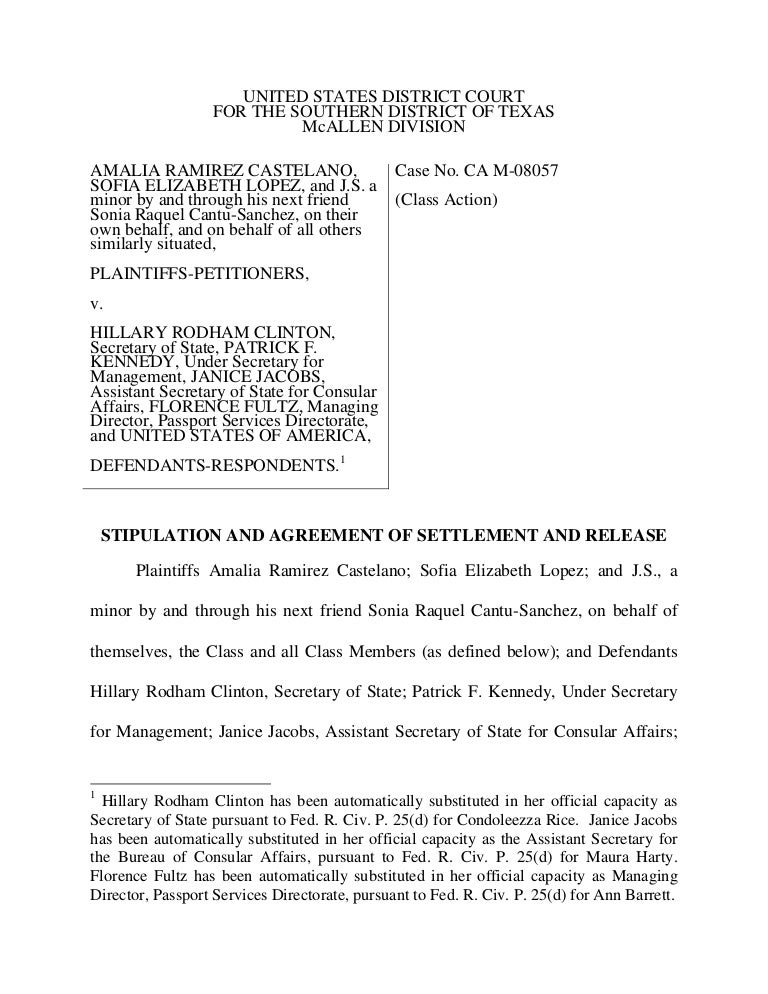 Settlement Agreement Dos