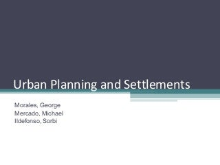 Urban Planning and Settlements
