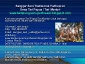 Sewa tari papua telp 02198333271