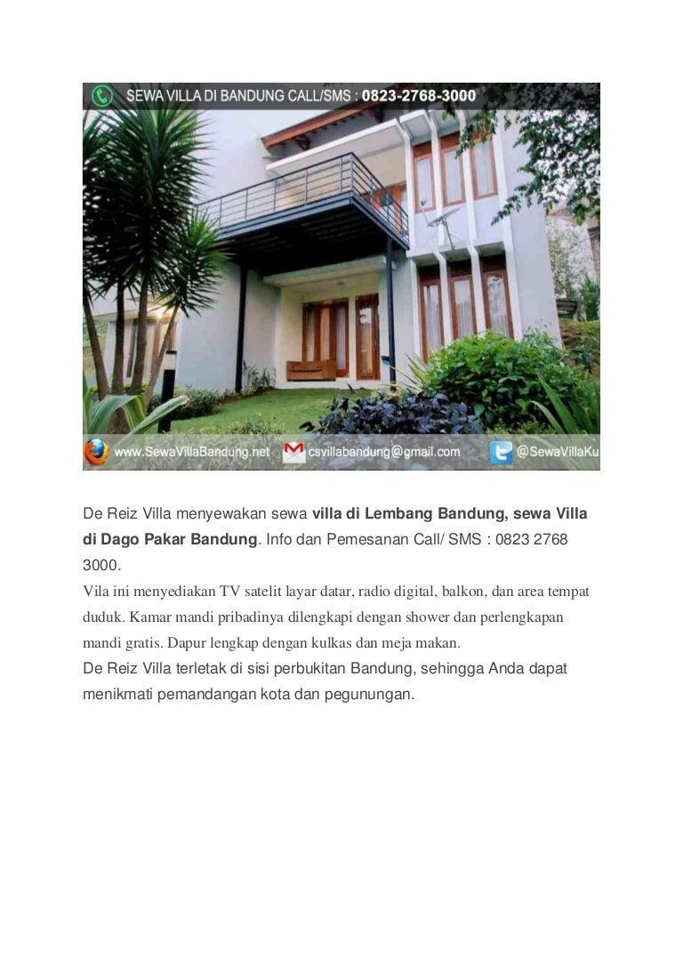 Sewa Villa di Bandung Murah Dago Pakar